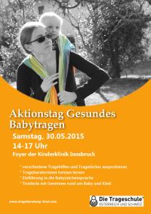 Aktionstag Gesundes Babytragen